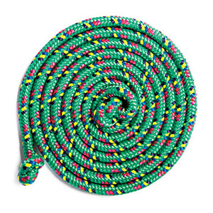 Just Jump It Confetti Jumprope, Green 8ft