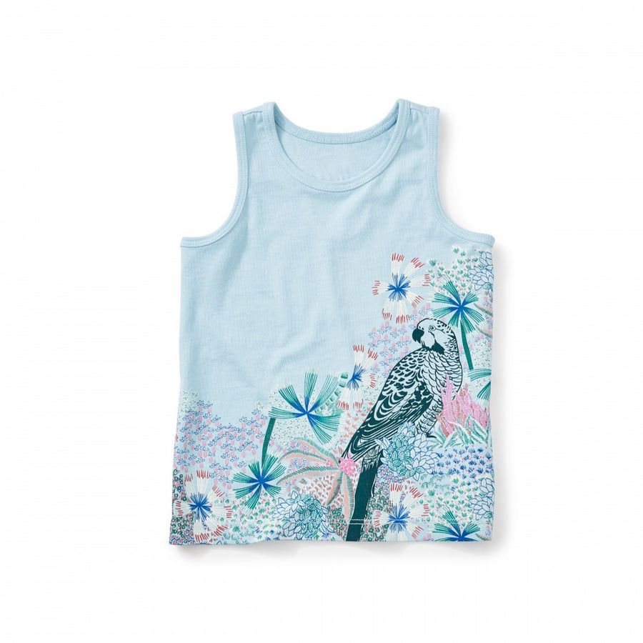 Tea Collection Rosella Keyhole Tank,  Ocean Mist