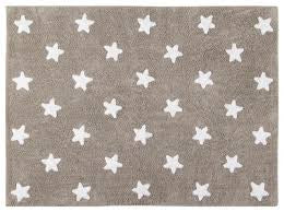 Lorena Canals Grey And white Star Washable Rug