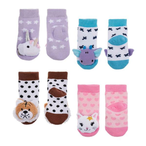 Rattle Baby Socks, 0-12 Months