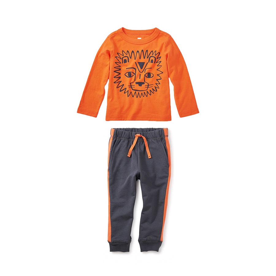 Tea Collection Side Stripe Baby Joggers Pant Set