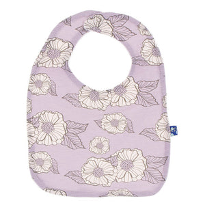 Sweet Pea Poppies Bib