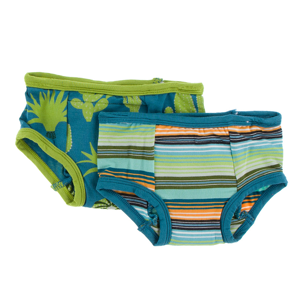 Training Pants Set (Cancun Glass Stripe / Seagrass Cactus)