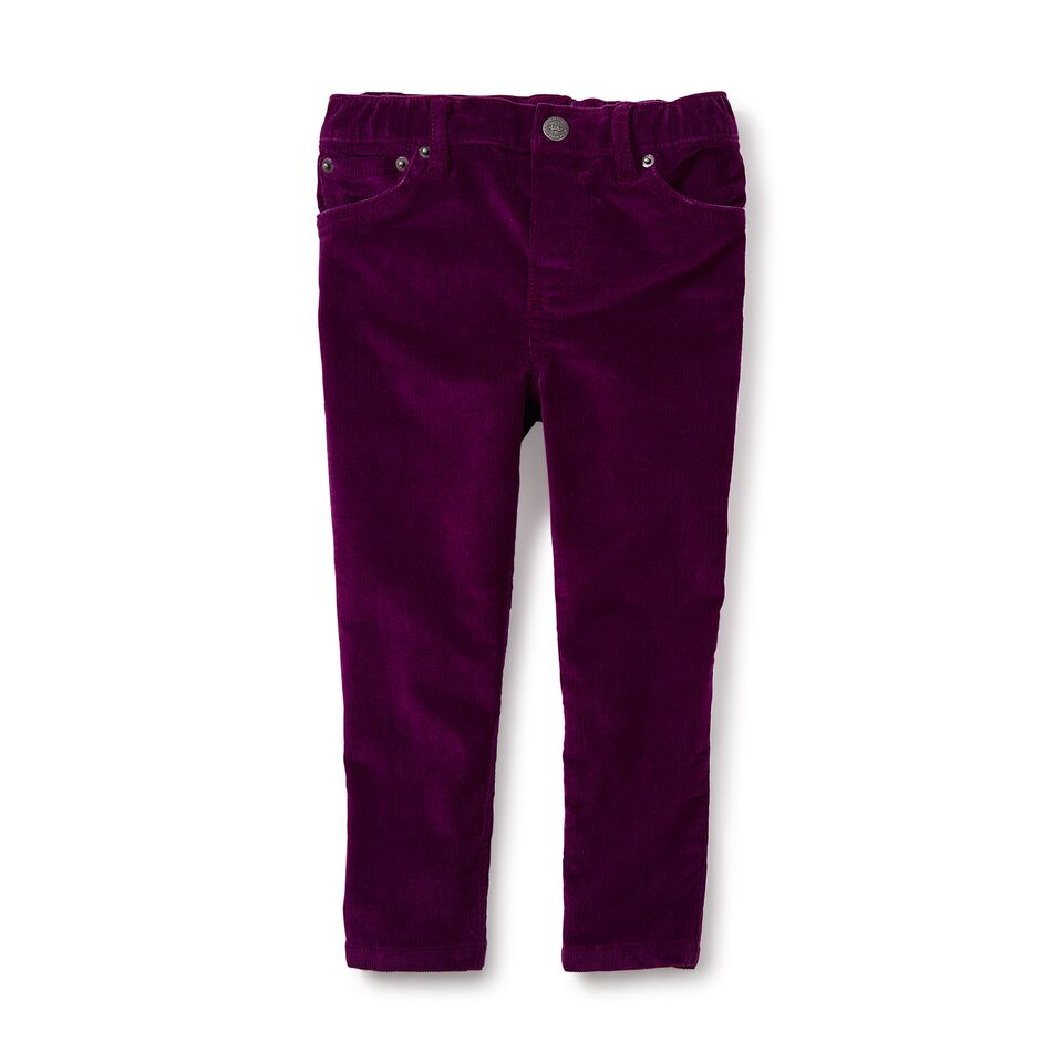 Tea Collection Stretchy Corduroy Pants, Cosmic Berry
