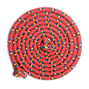 Just Jump It Confetti Jumprope, Red 8ft