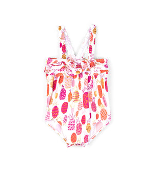 Tropical Pineapple Baby Ruffle Swimsuit