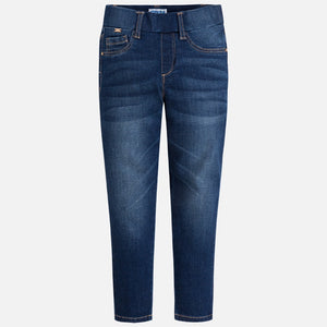 Mayoral Basic Denim Pants, Dark