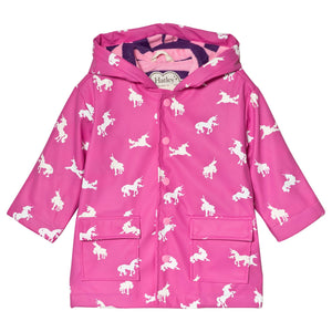 Hatley Color Changing Rain Jacket, Unicorns