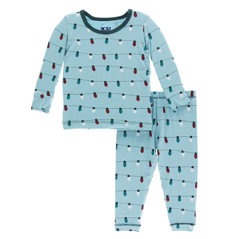 Long Sleeve Pajama Set, Glacier Holiday Lights (Pre-Sale)