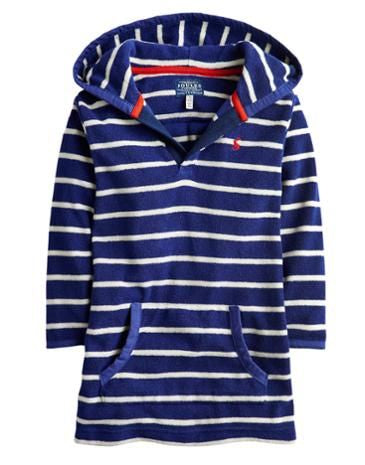 Joules Terry Cloth Swim Cover-Up, Navy Stripe