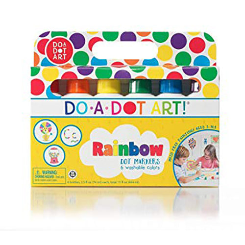 Do A Dot Marker 6 Pack, Rainbow Colors