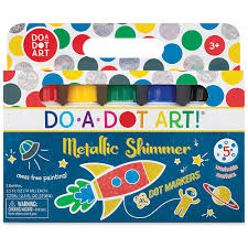 Metallic Shimmer Dot Markers, Set of 5