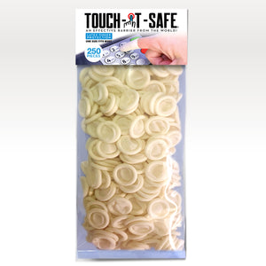 Touch-it-Safe Finger Covers.  Choose from 40 - 100 - 250