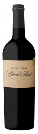 Post House Black Mail Merlot - Stellenbosch