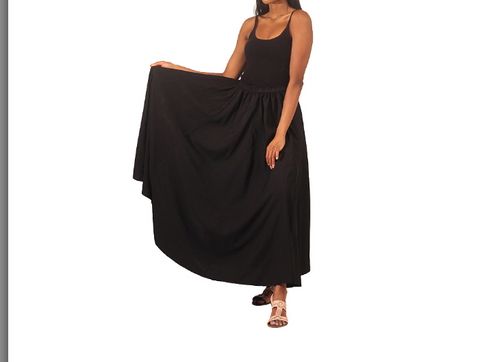 Lightly Pleated Maxi Skirt