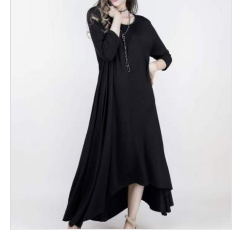 Black Drapey Maxi Dress