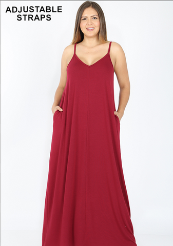 Adjustable Straps Maxi Dress