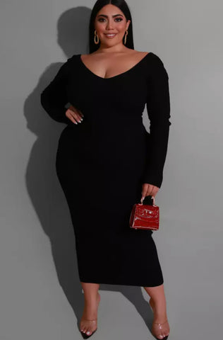 Off Shoulder Ribbed Pencil Dress