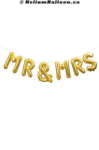 MR & MRS Script - Gold / Silver - Air Filled only