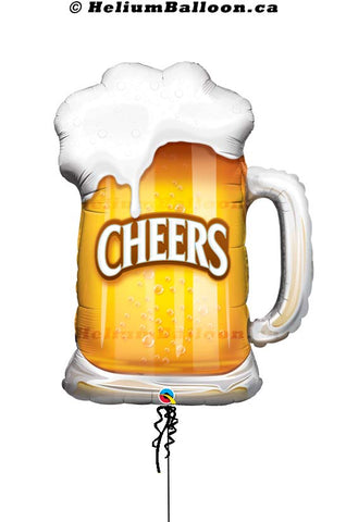 Cheers Beer Mug Super shape Balloon - Mylar 35""