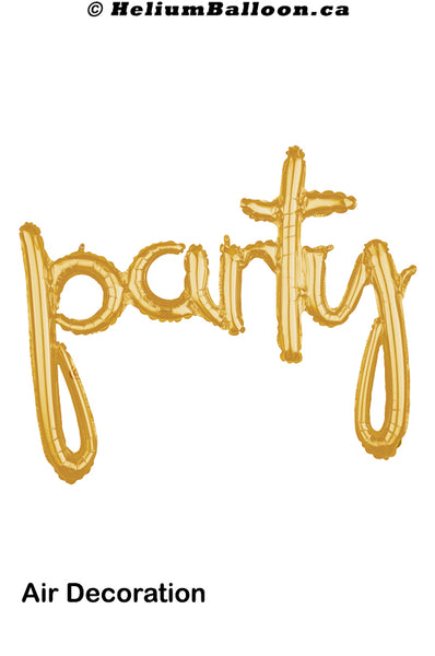 Party Script - Gold / Silver - Air Filled only