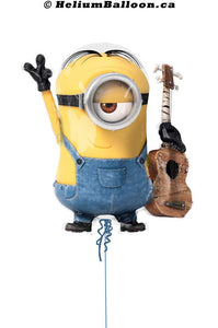 Balloon Super Shape Minion Guitar Despicable Me Stuart 26""