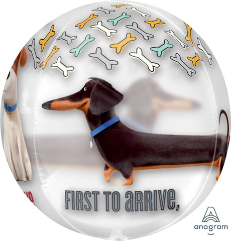 Round Clear Dogs Balloon 22""