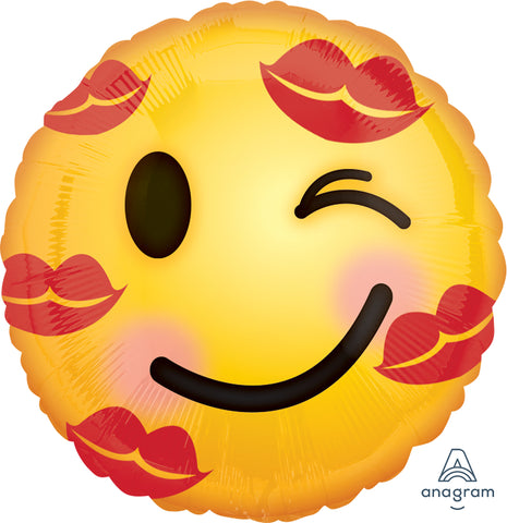 Kisses Emoji Balloon 18 inches