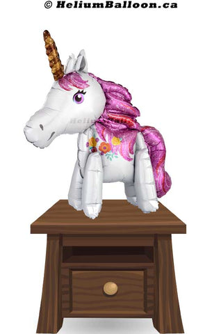 Magical Unicorn balloon 22  by 25 inches - Air Filled
