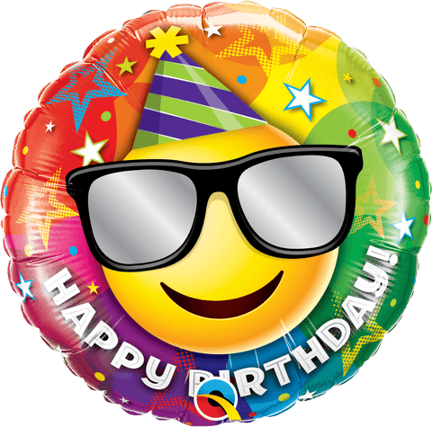 Happy Birthday - Smiley Clown - Mylar 18""