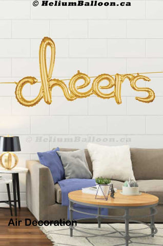 Cheers_script_gold_balloon_delivery_Montreal_retirement_graduation