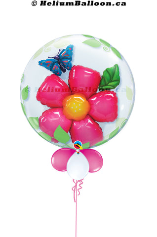 Bubble Inside 3D Rose & Butterfly