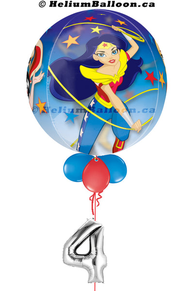 Wonder woman Balloon Montreal delivery