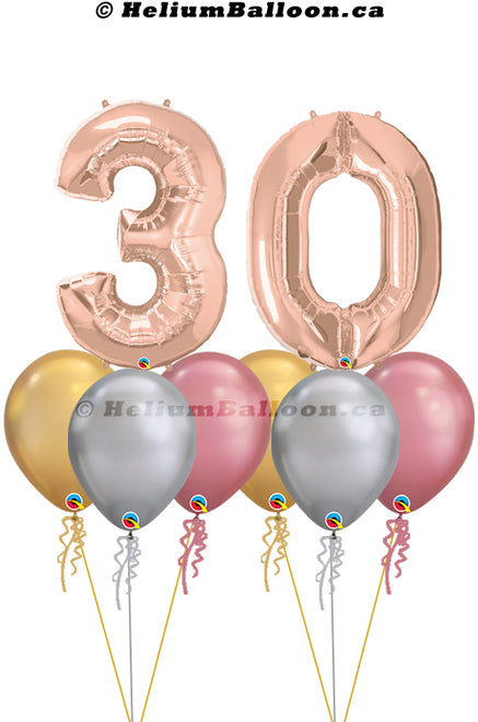 Numbers Balloons Bouquets