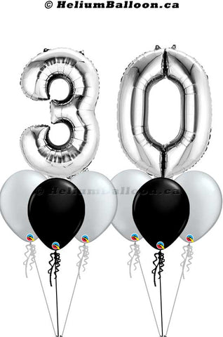 Bouquet_Number_silver_34_inches_Helium_Balloon_Bouquets_Delivery_Montreal_Bouquets_Ballon_Chiffre_34_pouces_Livraison_Bouquets_ballons_Helium_Montreal_HeliumBalloon.ca