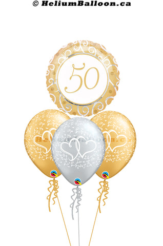Bouquet Wedding 50th Anniversary - Gold