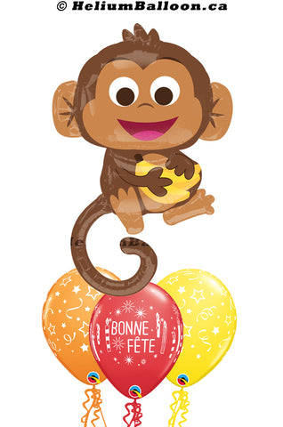 Bouquet Super Monkey Bonne Fête / Happy Birthday