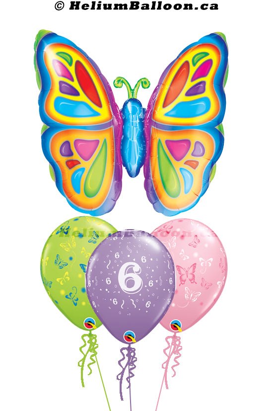 Bouquet Super Butterfly Birthday Age ( 1 to 90 )