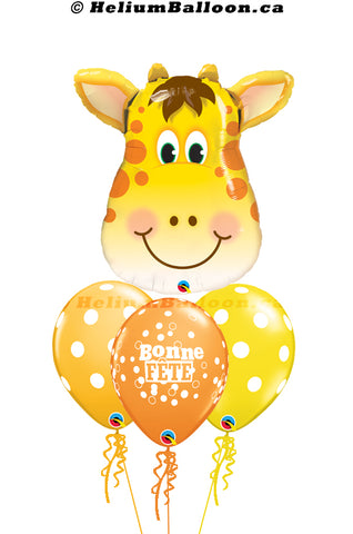 Bouquet Super Giraffe Bonne Fête / Happy Birthday