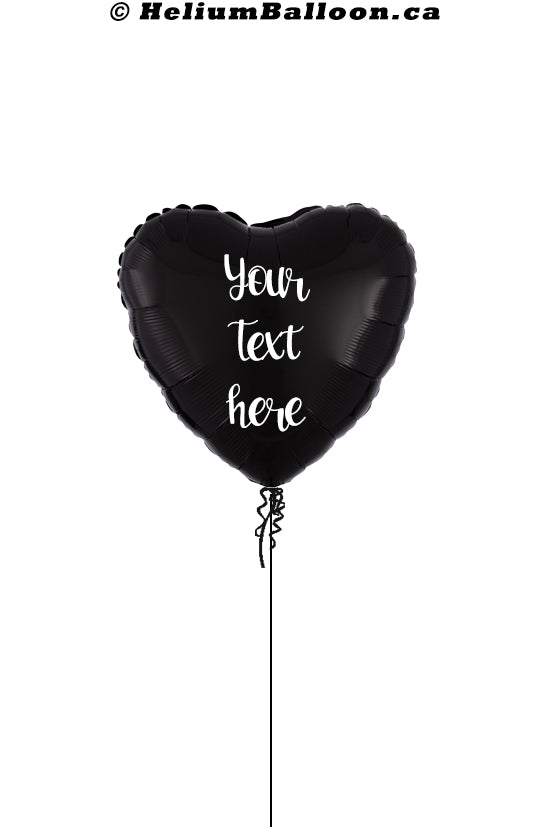 Personalized Heart Metallic Balloon 17'' ( Colors Available )