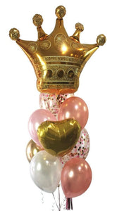 Super Bouquet Crown - Rose Gold Confetti - Pink & White