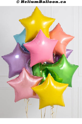 Bouquet_balloons_metallic_Star_18_inches_helium_balloon_Montreal_delivery-Livraison_bouquets_de_ballons_Helium_Montreal