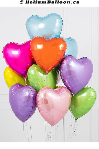 Bouquet_balloons_metallic_heart_18_inches_helium_balloon_Montreal_delivery-Livraison_bouquets_de_ballons_Helium_Montreal_coeur