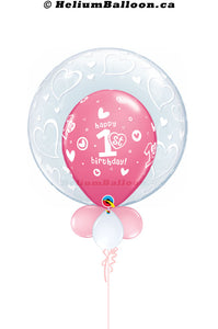 First_birthday_girl_pink-helium-balloon-Montreal-delivery-Livraison-bouquets-de-ballons-Helium-Montreal-un_an_fête_fille_rose