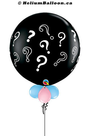 Baby Shower / Gender Reveal Balloon with Question Marks - 34 inches