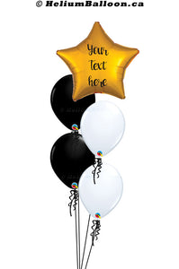 Personalized Balloon Bouquet - Star Metallic Balloon 17'' ( Colors Available )