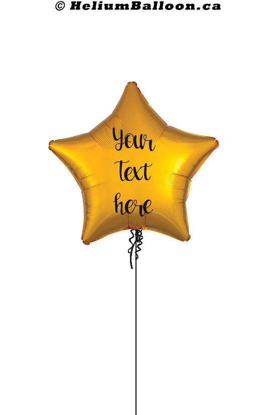 Personalized Star Metallic Balloon 17'' ( Colors Available )