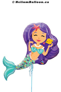 Mermaid  helium balloon Montreal delivery Helium balloons bouquets montreal