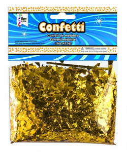 Metallic Confetti Shreds-Gold 1.5oz