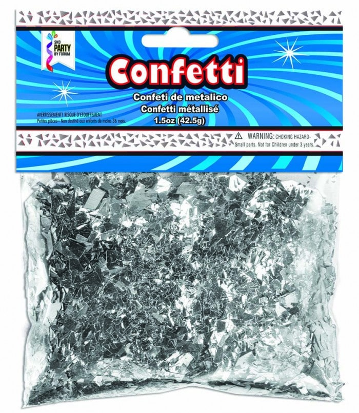 Metallic Confetti Shreds-Silver 1.5oz